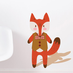 Happy Fox Removable Wall Sticker