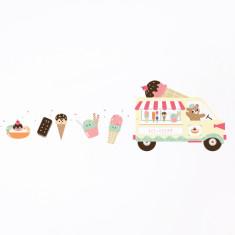 Ice Cream Truck & Friends Removable Wall Sticker