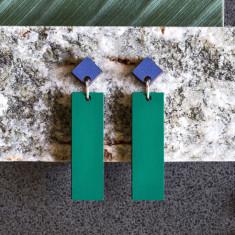 Aquila Studs - Emerald