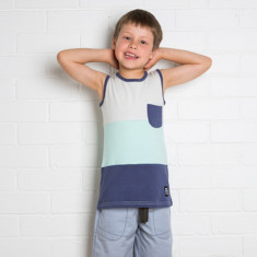 Boys' stripe singlet