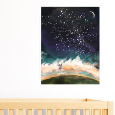 Personalised Baby Wall Art - The Stars Your Baby Was Born Under