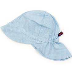 Kids' sun hat in blue with white dots