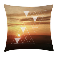 Orange sunset scatter cushion