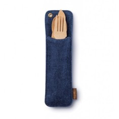 Bambu - Hemp Denim Utensil Travel Set