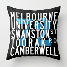 Melbourne tram route 72 cushion cover