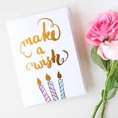 Make a wish gold foil card