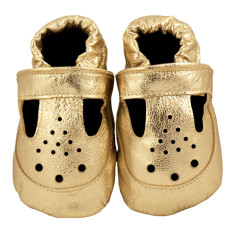 Glorious gold baby shoes