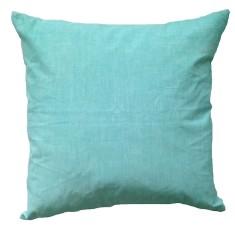 Aqua linen cushion