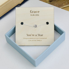 Personalised You're A Star Sterling Silver Bracelet
