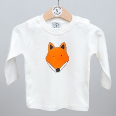 Babies long sleeve t shirt fox