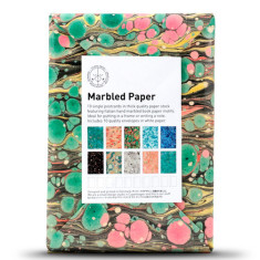 Marbled paper black cards (set of 10)