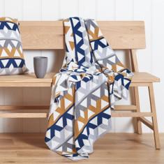 Pavilion Knit cotton geometric throw (various colours)