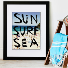 Sun surf sea art print