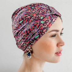 Amelie turban-style shower cap in Marrakesh