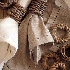 European hemstitch table linen
