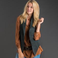 Otto leather waist coat
