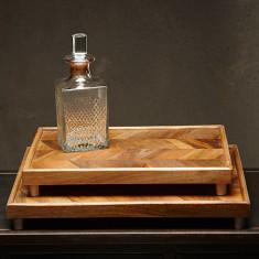 Chevron wooden tray (2 sizes)