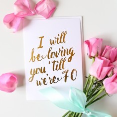 I will be loving you gold foil card