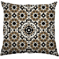 African Daisy Tribal Cushion Cover in Kernel