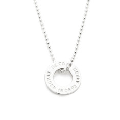 Millie personalised sterling silver pendant