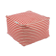 Glammclassic Cube Beanbag - Red & White Striped