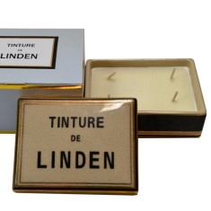 Tinture de Linden ceramic box candle