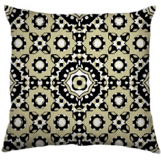 African Daisy Tribal Cushion Cover in Agate