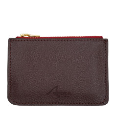 Lily coin purse in burgundy leather
