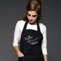 They See Me Rollin' Printed Black Apron