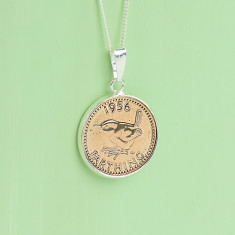 Farthing 60th birthday coin necklace