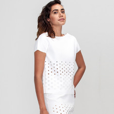 Petronie Laser Cut Top White