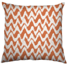 African Chevron Tribal Cushion Cover in Peach