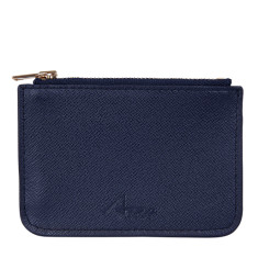 Lily coin purse in navy blue leather