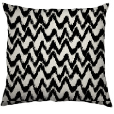 African Chevron Tribal Cushion Cover in Black