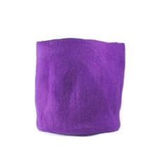 Purple large vadu felt multi-purpose basket