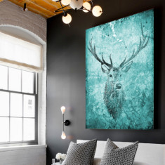 Deer Hunter Emerald Canvas Art