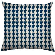 African Choje Tribal Cushion Cover in Navy