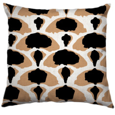 African Desert-Cabbage Tribal Cushion Cover in Caramel