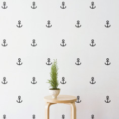 Mini anchor pattern wall sticker