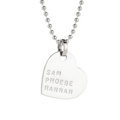 Estelle personalised sterling silver pendant