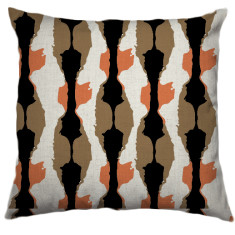 African Boabab Tribal Cushion Cover in Peach