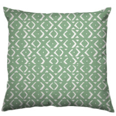 African Mudcloth Tribal Cushion Cover in Pea