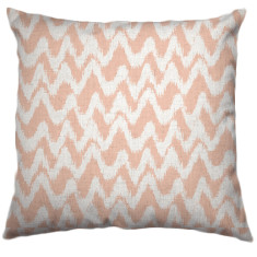 African Chevron Tribal Cushion Cover in Nude