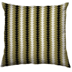 African Choje Tribal Cushion Cover in Old Brass