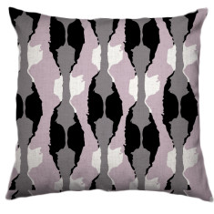 African Boabab Tribal Cushion Cover in Rosewater