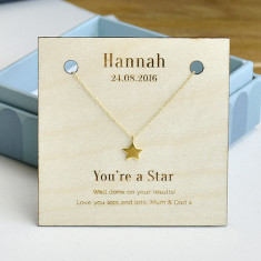 Personalised You're A Star Gold Necklace