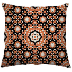 African Daisy Tribal Cushion Cover in Peach