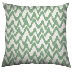 African Chevron Tribal Cushion Cover in Pea