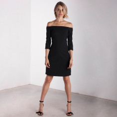 City Of Lights Off-Shoulder Dress