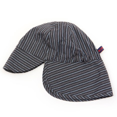 Kids' grey & blue striped sun hat